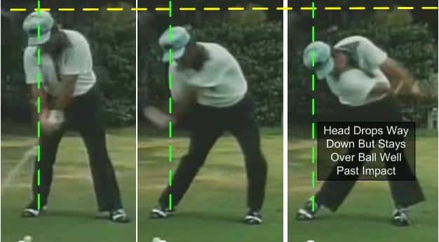 Lee Trevino Chase the Ball Down the Line Golf Swing Release