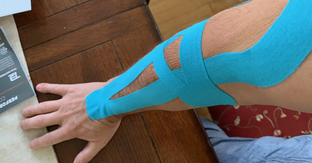 Kinesiology taping for golfers