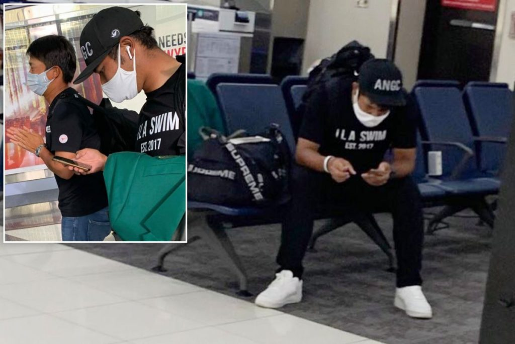 Hideki being casual with the famed green jacket